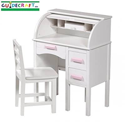 Guidecraft Jr. Roll-Top Desk, White