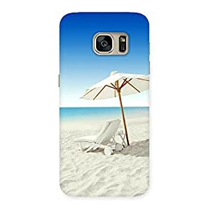 Stylish Vaccation Multicolor Back Case Cover for Galaxy S7