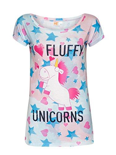Minions I Love Fluffy Unicorns Maglia donna multicolore XS