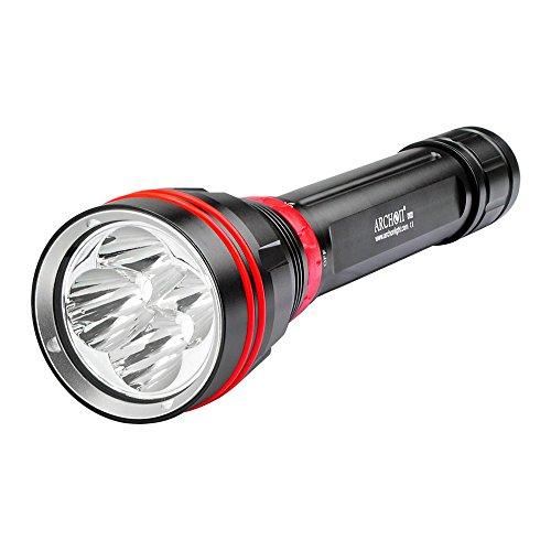 Archon WY08 DY02 4x Cree XP-L LEDs 4000Lumens 26650 Scuba Diving Light Underwater Flashlight Torch