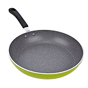 2 X Cook N Home 12-Inch Frying Pan Saute Pan 30cm with Non-Stick Coating Induction Compatible Bottom, Large, Green