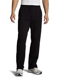 Russell Athletic Men's Dr-Power Fleece Open Bottom Pocket Pant, Black, Large