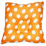 CRACK4DEAL Square Shaped Baby Head Shaping Dot Printed Soft Pillow (Orange)