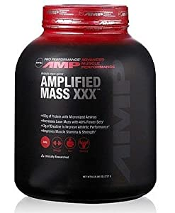 GNC Pro Performance AMP Amplified Mass XXX - 6 Lb(s) - Vanilla, Chocolate, Strawberry, Banana Cream or Cookies & Cream
