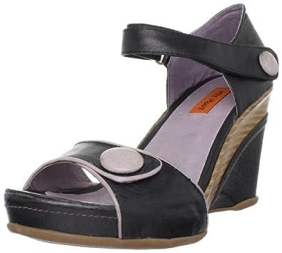 Miz Mooz Women's Zinc Ankle-Strap Sandal,Black,37 EU/7 M US