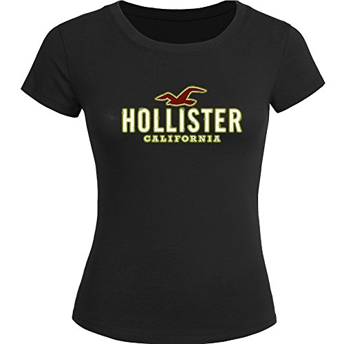 Hollister Logo Diy Printing For Ladies Womens T-shirt Tee Outlet