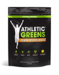 Athletic Greens Superfood Powder - Blend Of 76 Potent Ingredients For Optimal Health & Enhanced Energy - Natural, Anti Aging Superfoods For Seniors, Students & More, 30 Day Supply