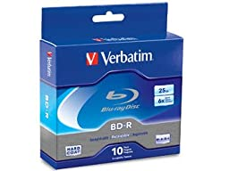 Disc Blu-ray Single Layer 25GB Write Once 6X Branded 10pk Spindle