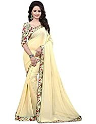 Roop Sangam Women's Chiffon Saree (kat72_Pink,Brown)