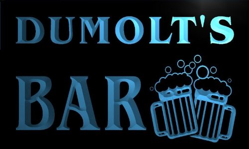 w109467-b DUMOLT'S Name Home Bar Pub Beer Mugs Cheers Neon Light Sign