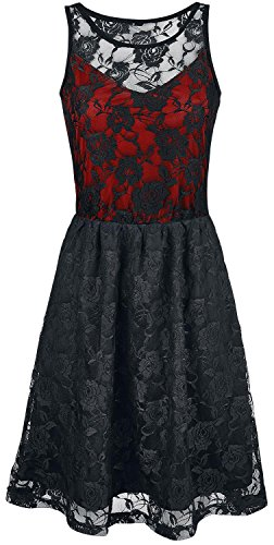 Black Premium by EMP Darling Dress Abito rosso S