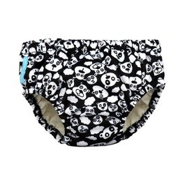 Charlie Banana One Size Cloth Diaper + 2 Reusable Inserts - Black Beary