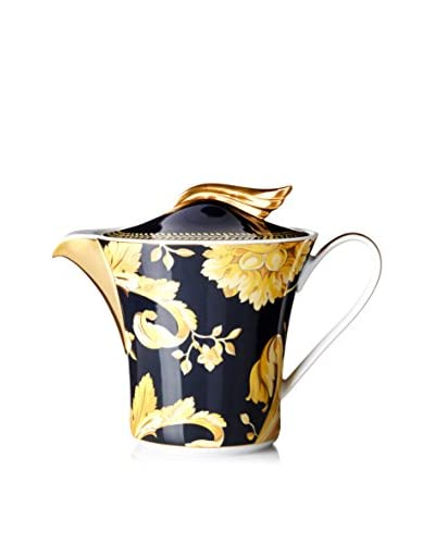 Versace by Rosenthal Vanity 43-Oz. Teapot, Navy/Yellow/Gold