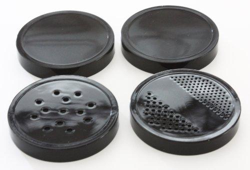 Magic Bullet 4 pcs Black Lids, 2 Stay Fresh Lids, 2 Shaker Lids (Magic Bullet Lids compare prices)