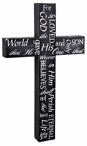 Ohio Wholesale-Kennedy 65797 Wall Cross-John 3-16 - 15 x 9 x 1.25