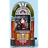 925 Musical Animated Santa   Reindeer in Lighted Jukebox Christmas Decoration