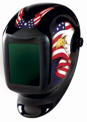 Sellstrom 24400FBA-611 America Titan Nylon Lightweight Welding Helmet with Impulse Magsense Shade 9-13 Auto-Darkening Filter welding helmet welder cap for welding equipment chrome for free post