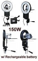 150W Continuous Video Ring Light for JVC EVERIO GZ-MG750, MG670, MG365, MG630, MG680, MG360, MG130, MG330, MG230, MG730, MG20, MG21, MG555, MG155, MG255, DA30US, D347US, D770, D370, D250