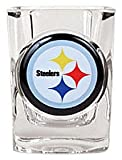 1 X Pittsburgh Steelers Official NFL 2 fl. oz. Square Shot Glass by Great American Products