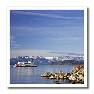 ht_92195_2 Danita Delimont - Lake Tahoe - Nevada, Lake Tahoe. Paddleboat across the lake - US29 BJA0037 - Jaynes Gallery - Iron on Heat Transfers - 6x6 Iron on Heat Transfer for White Material