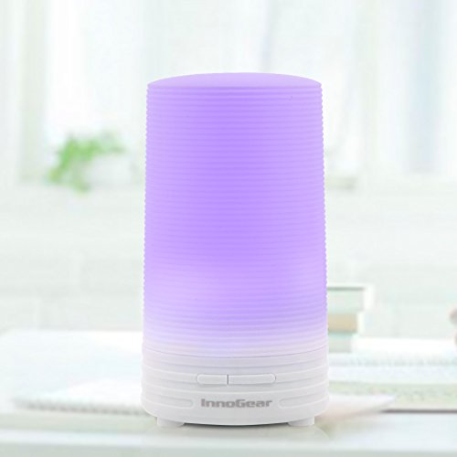 InnoGear® USB Essential Oil Diffuser Portable Aromatherapy Cool Mist Humidifier Whisper-Quiet with Colorful LED light for Car Office Bedroom Travel