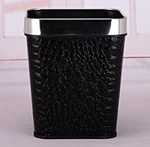 trash bins kitchen bathroom square trash can small black crocodile