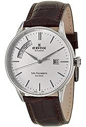 Edox Les Vauberts Day Date Automatic Men's Automatic Watch 83007-3-AIN