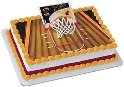 Miami Heat Slam Dunk Cake Topper