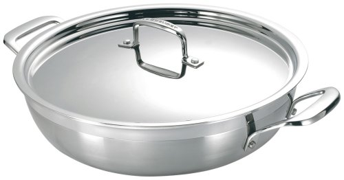 Le Creuset 3-Ply Stainless Steel Mediterranean Casserole, 30 cm