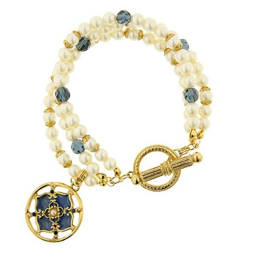 The Vatican Library Collection Windows To Heaven Triple Strand Bracelet