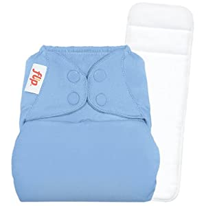 Flip Individual: 1 One-Size Snap Closure Diaper Cover & 1 One-Size Stay-Dry Insert - Twilight