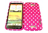 Designer Pink Dots Shabby Chic Vintage Htc One X Tpu soft gel case/cover