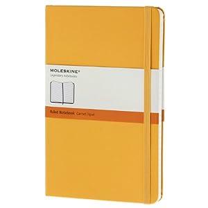 Moleskine Notebook Ruled Yellow Orange Hard Cover Large (Moleskine Classic) Moleskine