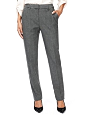 M&S Collection Modern Super Slim Leg Checked Trousers