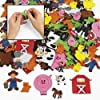 500 Barnyard Foam Self-Adhesive Farm Shapes