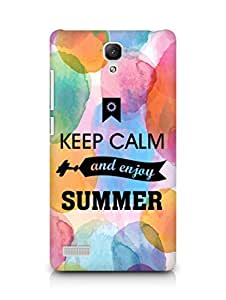 Amez Keey Calm and Enjoy Summer Back Cover For Xiaomi Redmi Note 4G
