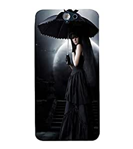 Vizagbeats Girl in Dark Back Case Cover for HTC One A9