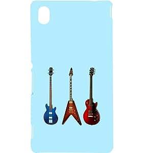 Casotec Electric Guitar Design Hard Back Case Cover for Sony Xperia M4 Aqua