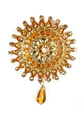 Syonaa brooch in topaz colour