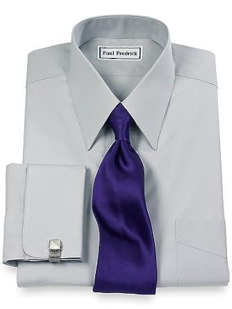 Paul Fredrick Men 39 S 2 Ply Cotton European Straight Collar: straight collar dress shirt
