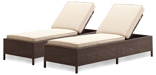 Strathwood griffen all weather wicker chaise lounge for All weather wicker chaise lounge