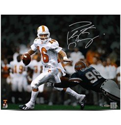 Peyton Manning Autographed Roll Out Photo 16 X 20 UDA LE 16
