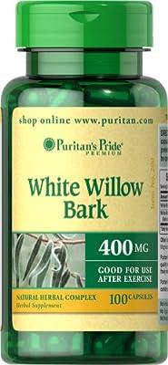 Puritan's Pride White Willow Bark 400 mg-100 Capsules