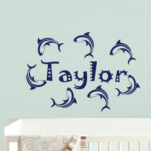 Wall Decal Decor Decals Art Taylor Name Inscription Word Baby Girl Flower Rose Nursery Decoration Gift (M694) front-787109