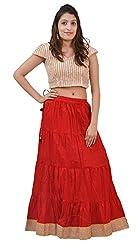 Carrol Long Skirt-Red