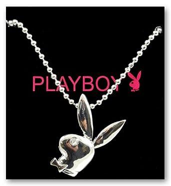 Playboy Bunny Necklace With Rhinestone Eye