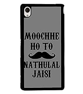 Muchhe Hon to Nathu Lal Jaisi 2D Hard Polycarbonate Designer Back Case Cover for Sony Xperia M4 Aqua :: Sony Xperia M4 Aqua Dual