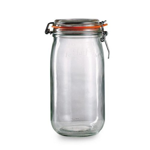 Le Parfait French Glass Canning Jar with 100mm Gasket and Lid -3 Liter