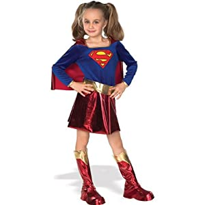 Super DC Heroes Supergirl Child's Costume Small (Size 4-6) (for 3-4 Years)