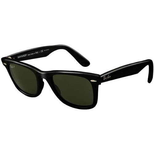 Ray-Ban RB2140 Original Wayfarer Icons Polarized Sportswear Sunglasses - Black/Grey